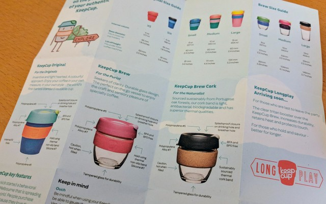 If you want to get really fancy, you can buy a KeepCup with a glass base and cork mouthpiece.